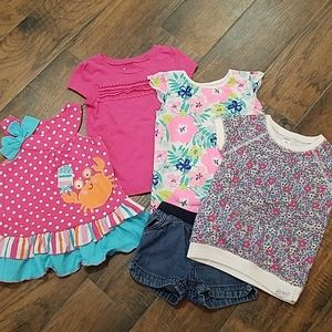 Girls 3T lot of tops and 1 pair of shorts